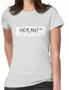 EXO Planet #2 The EXO'luXion Black White Womens Fitted T-Shirt