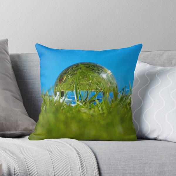 An upside down world Throw Pillow