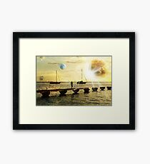 The evolution of love and planets  Framed Print