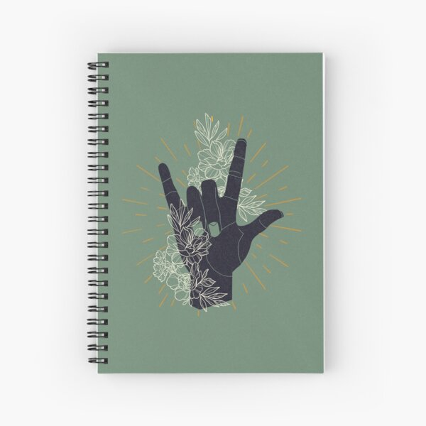 I LOVE YOU (Sign Language) Spiral Notebook