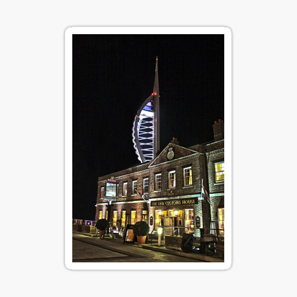 Spinnaker Tower and Old Customs House Portsmouth Sticker