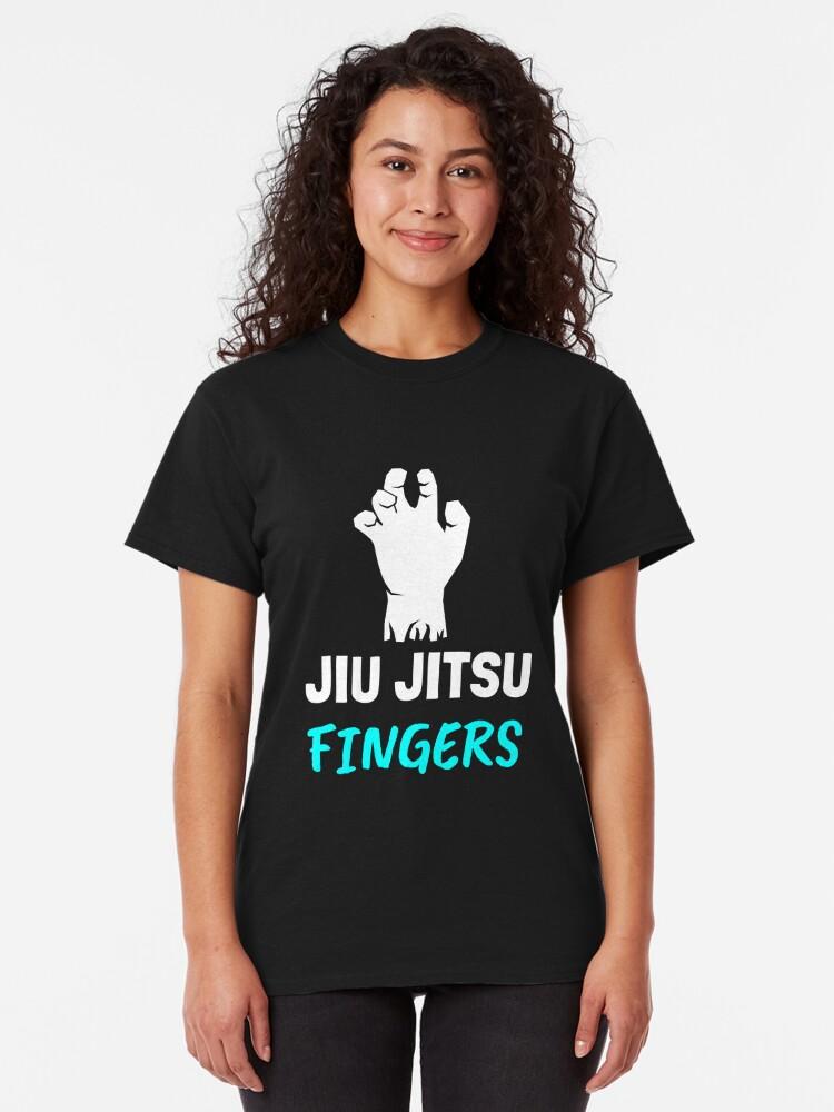 Alternate view of Jiu Jitsu Fingers, Grappling, BJJ Classic T-Shirt