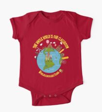 The Whole World in Our Classroom Short Sleeve Baby One-Piece