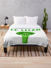 Go Vegan Throw Blanket