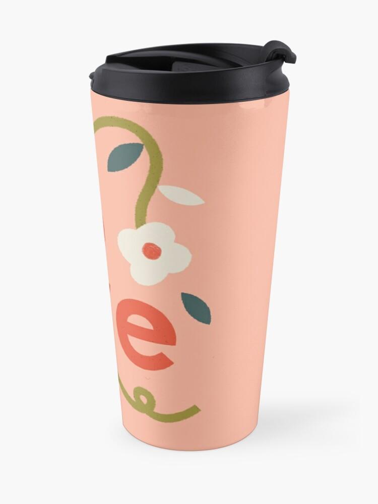 Alternate view of Pink Love Travel Mug