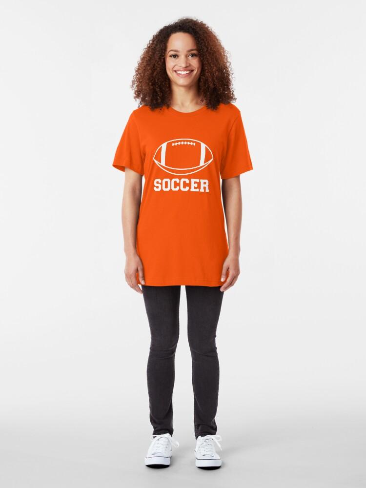 Alternate view of FOOTBALL (SOCCER) Slim Fit T-Shirt