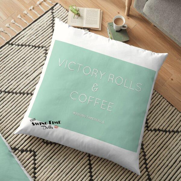 Victory Rolls & Coffee Floor Pillow