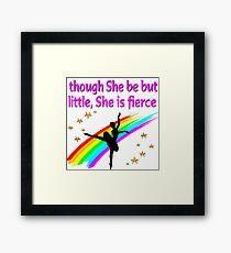 BEAUTIFUL AND GRACEFUL DANCER DESIGN Framed Print