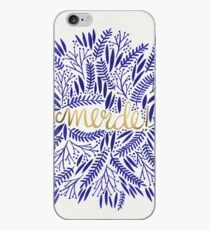 Pardon My French – Navy & Gold iPhone Case