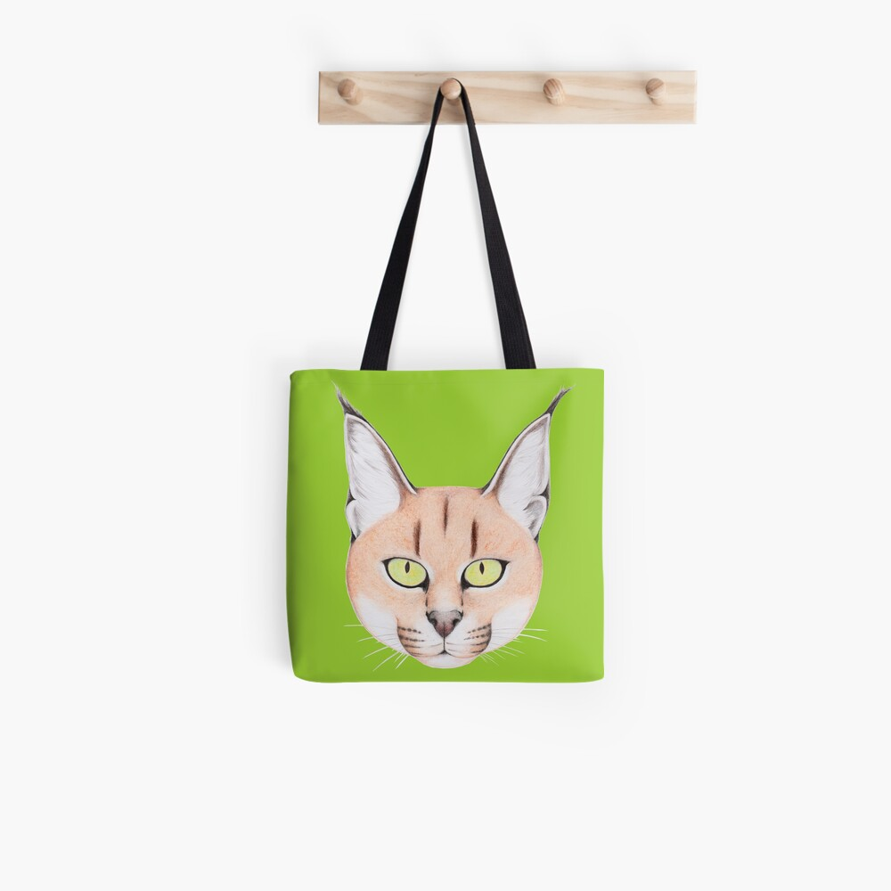 African Caracal Cat Tote Bag