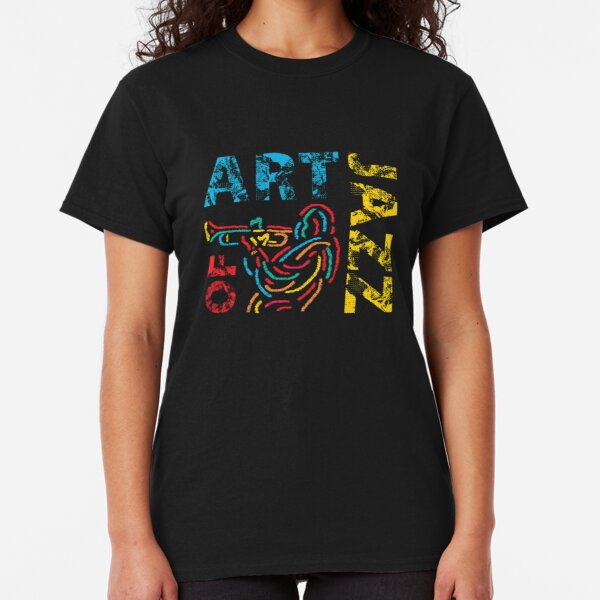 Art of Jazz Colorful Abstract Trumpet Player Classic T-Shirt