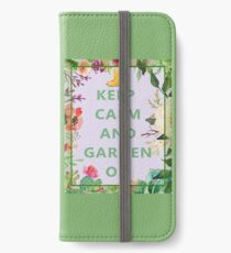Keep Calm and Garden On iPhone Wallet/Case/Skin
