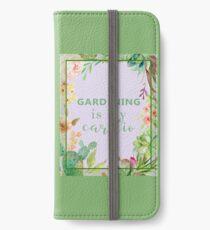 Gardening is my cardio iPhone Wallet/Case/Skin