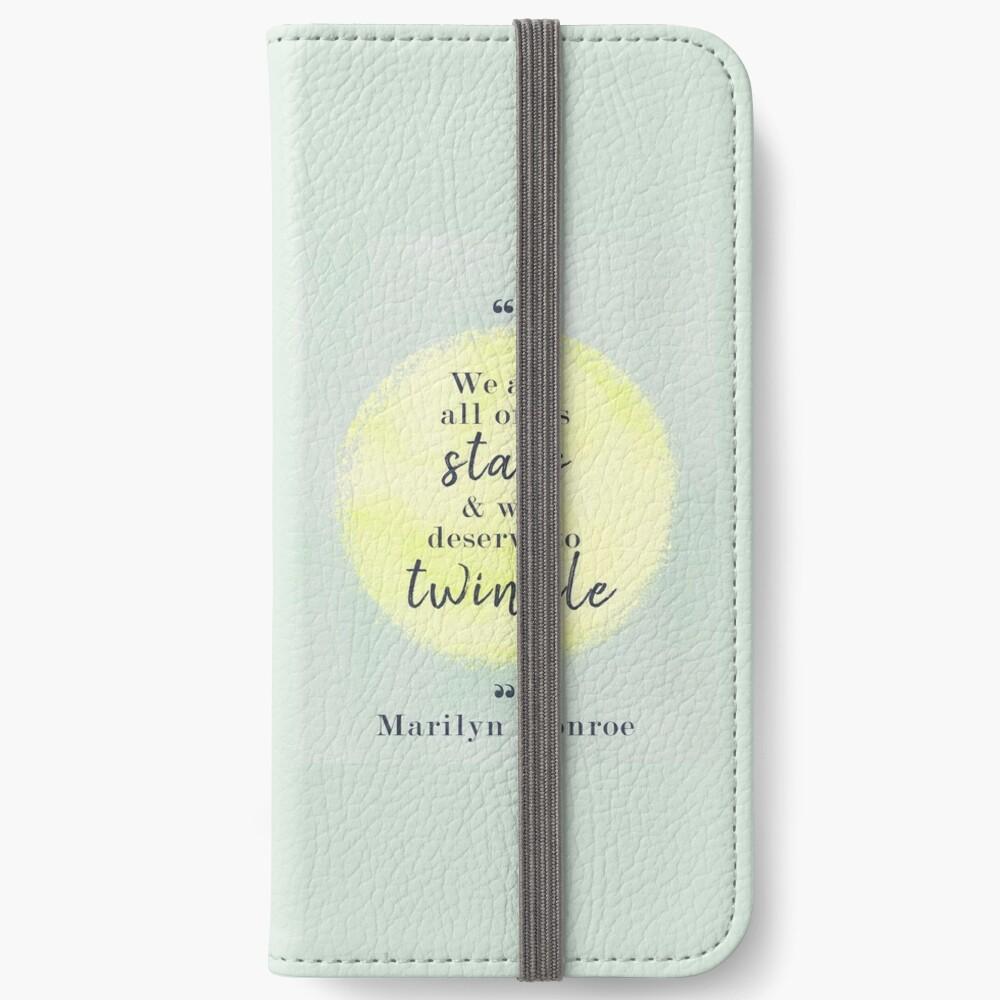 Marilyn Monroe Quote iPhone Wallet