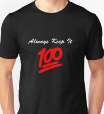 Keep it 100 Emoji Shirt alt T-Shirt