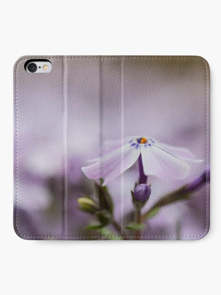 Alternate view of Lavender Spring Flowers iPhone Wallet