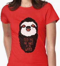 Evil Sloth Fitted T-Shirt