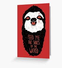 Evil Sloth Greeting Card
