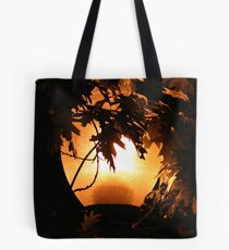 Torching the Tree Tote Bag