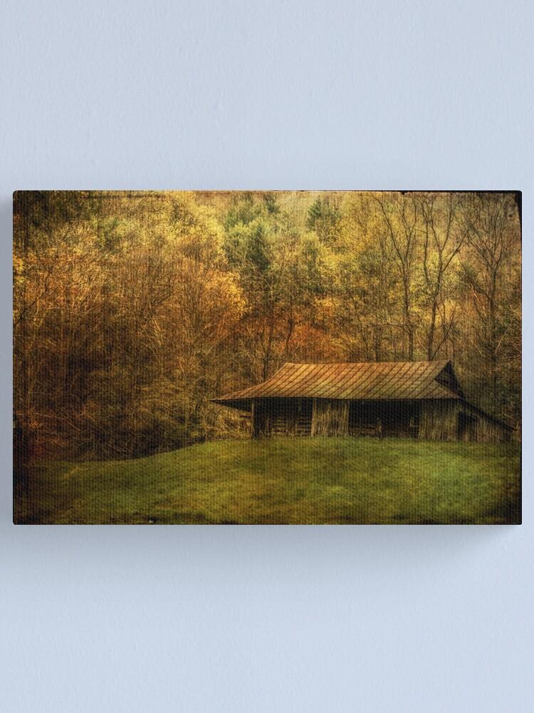 Alternate view of Wood Smoke Burnin',  Leaves are Turnin' Canvas Print