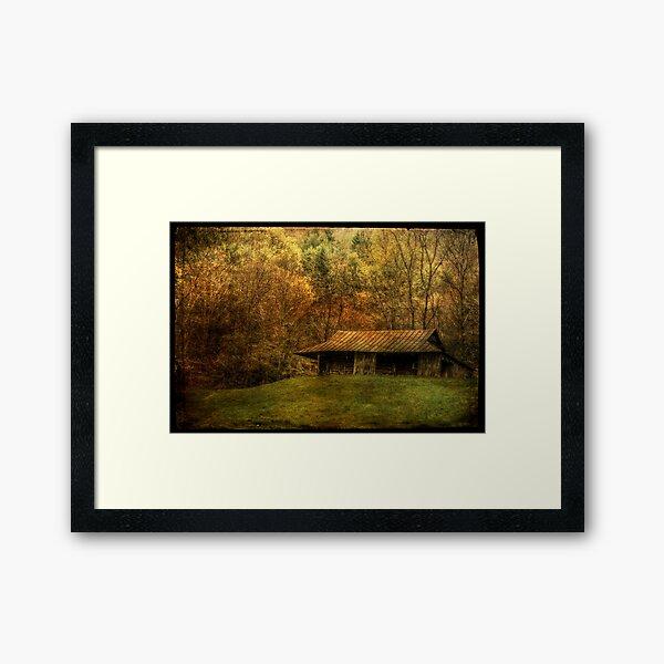 Wood Smoke Burnin',  Leaves are Turnin' Framed Art Print