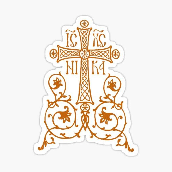 Orthodox Cross Design Sticker