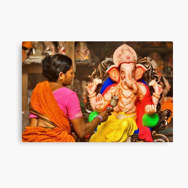 Making of the Ganesh idols #2 Canvas Print