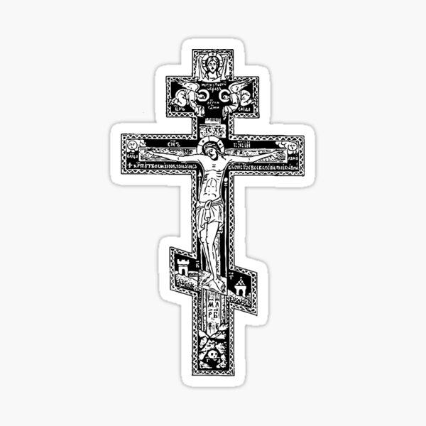 Russian Crucifix Sticker