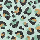 Leopardenmuster - Mint & Rose Gold von Cat Coquillette