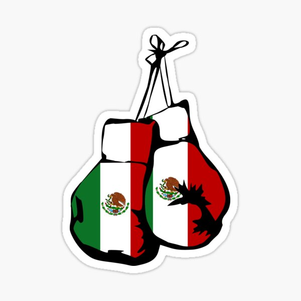 Mexico Flag / Mexican Boxing Gloves Sticker