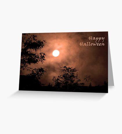 Haunting Moon (card) Greeting Card