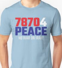 78704 (for) PEACE - No War on Iran! Slim Fit T-Shirt