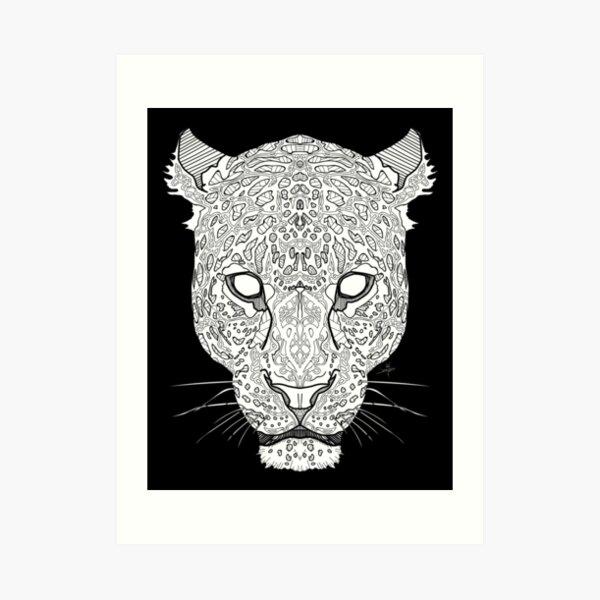 Norse Leopard White Art Print