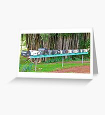 Hana Highway Postboxes Greeting Card