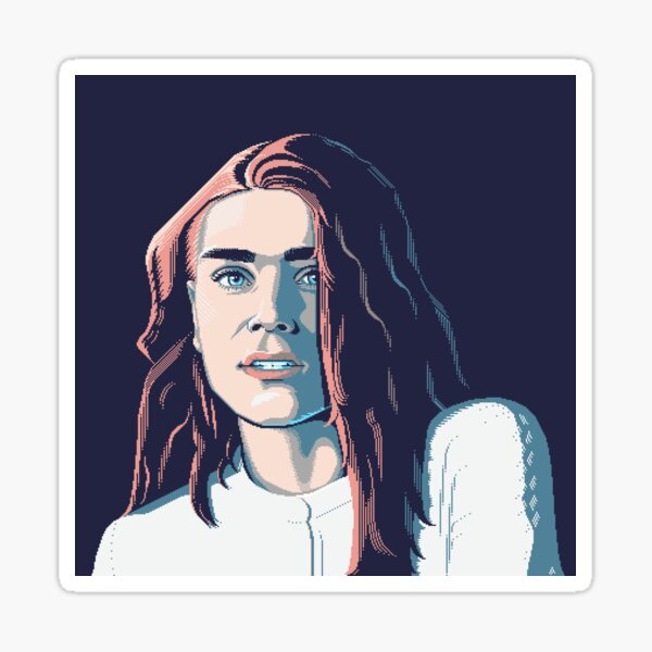 Orange Crush - Pixel Art Portrait Sticker