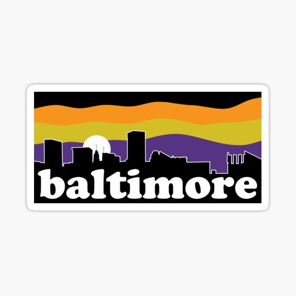 Baltimore Skyline Team Colors Sticker