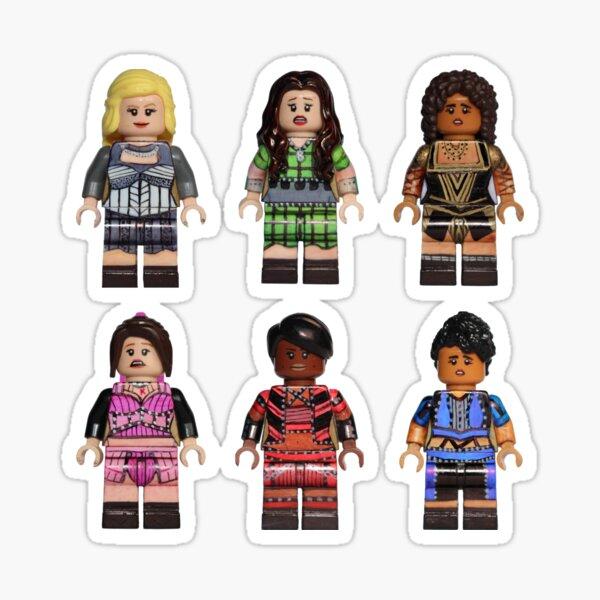Full Cast Starter Pack - Six - Broadway Bricks Sticker