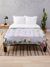 You Can't Buy Happiness But You Can Buy Plants Throw Blanket