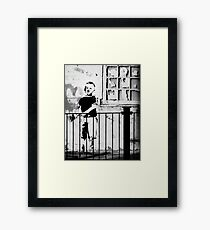 Boy with heart  Framed Print