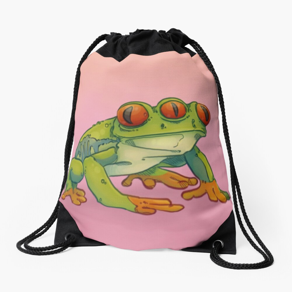 3 EYES FROG Drawstring Bag