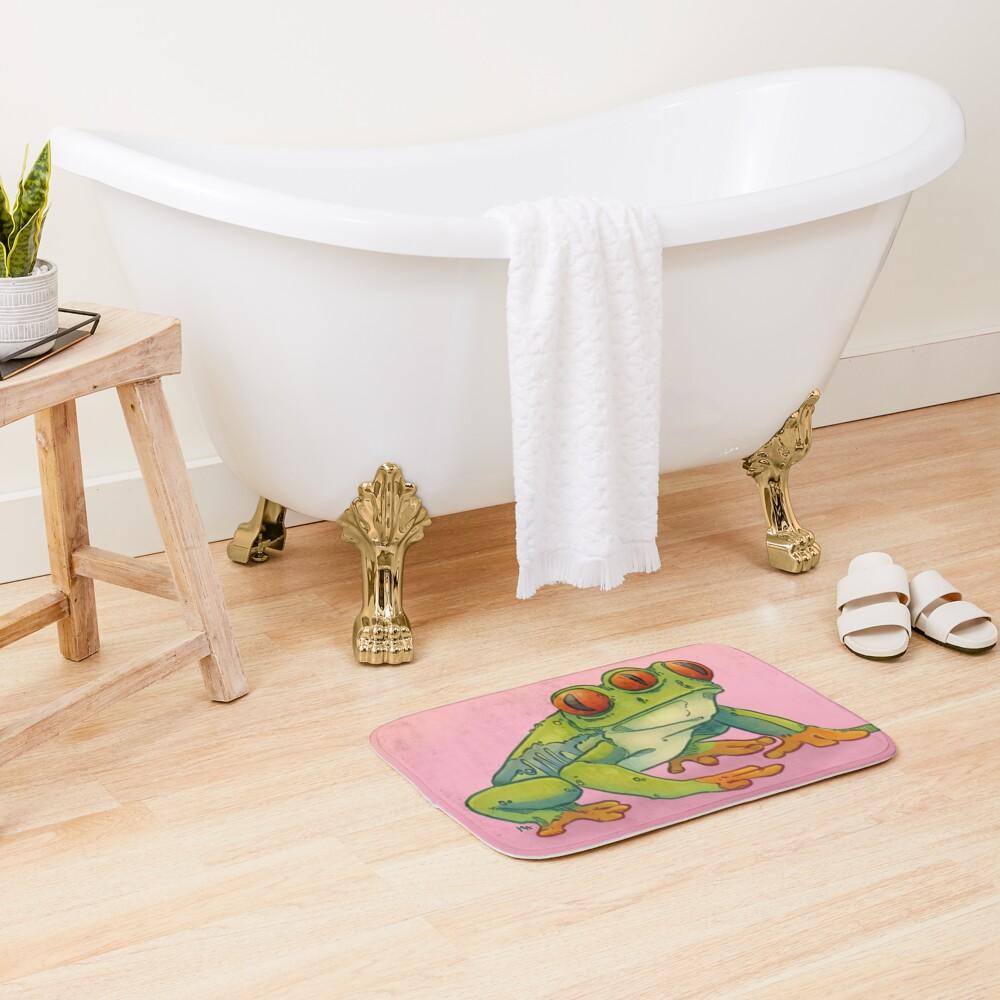 3 EYES FROG Bath Mat