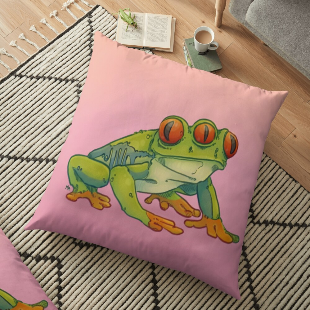 3 EYES FROG Floor Pillow
