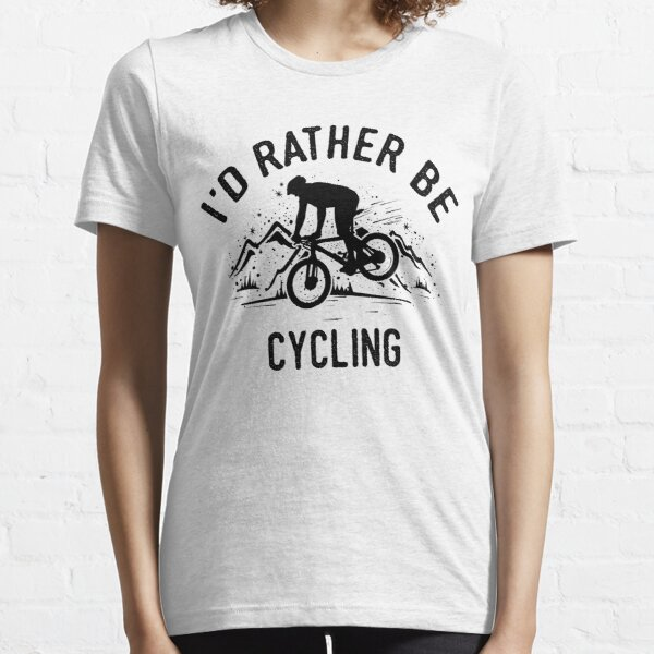 Time Is Precious Cycling Mountainbike T-Shirt - Cool Funny Nerdy Cyclist MTB Coach Team Humor Statement Graphic Image Quote Tee Shirt Gift Essential T-Shirt