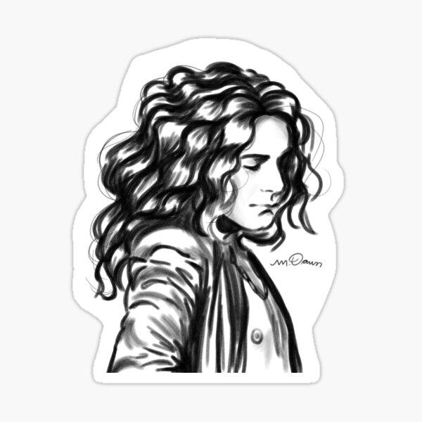 Robert Plant Inspired Portrait Sticker