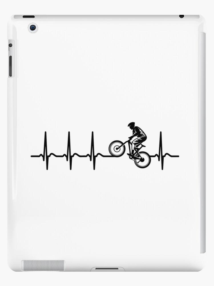 Radfahren Mountainbiken Herzschlag T Shirt Cooles Lustiges Nerdy Comic Graphic Fahrrad Team Mannschaft Humor Spruch Sprüche Shirt Geschenk