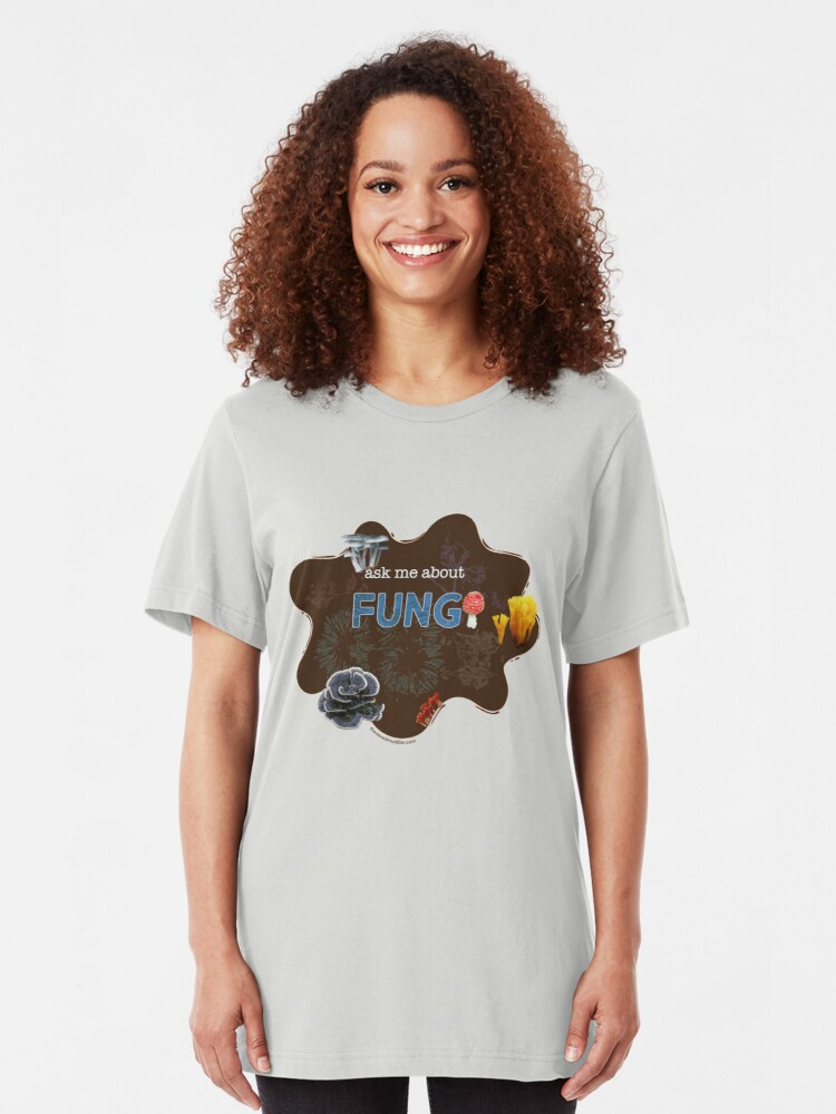 Alternate view of Ask me about FUNGI Slim Fit T-Shirt
