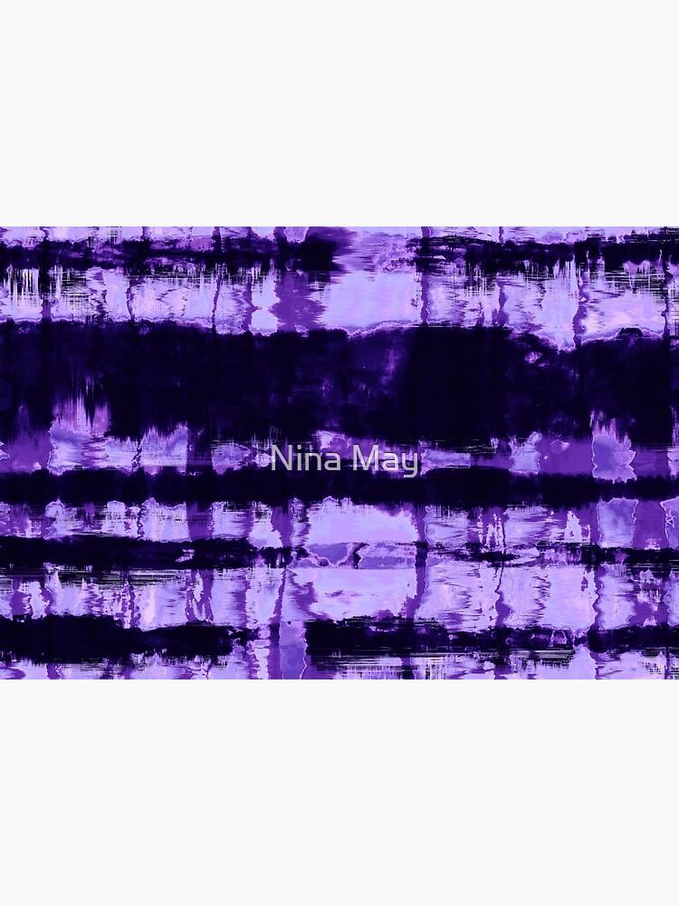 Purple Tie-Dye Shibori Stripe by ninabmay