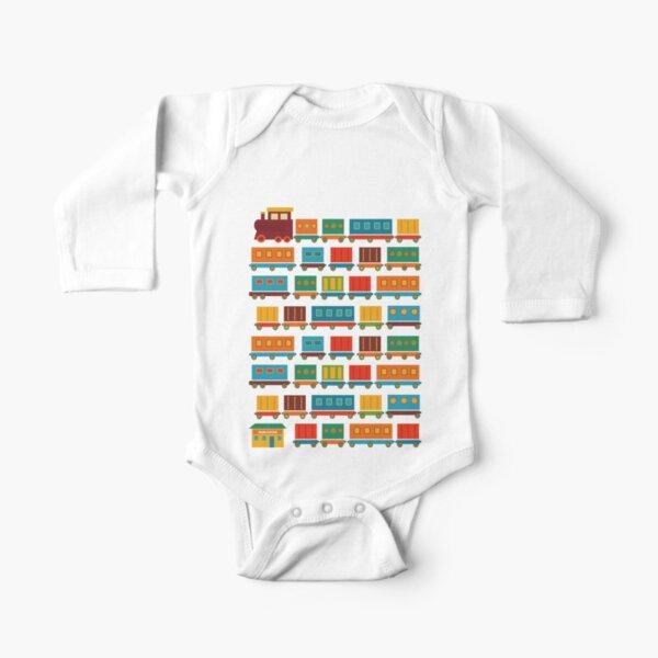 Train Long Sleeve Baby One-Piece