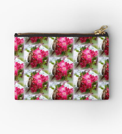 Bee on blooming jostaberry  Studio Pouch