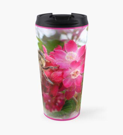 Bee on blooming jostaberry  Travel Mug